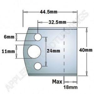 Profile No. 193 40mm  Euro BLANK Knives, Limitors and Sets