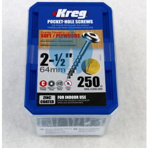 250 SCREWS 2 1/2 Inch KREG Pocket Hole Washer Heads SML-C250 63mm
