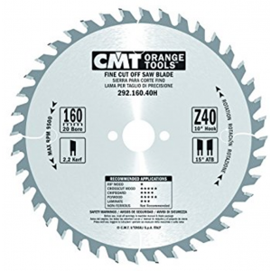 160mm Z=40 Id=20 CMT Hand Held / Portable Saw Blade To Fit Festool CSP55