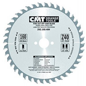 160mm Z=40 Id=20 CMT Hand Held / Portable Saw Blade