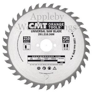 240mm Z=36 Id=30 CMT Hand Held / Portable Saw Blade To Fit Festool AP88