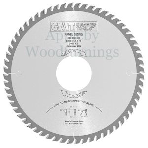 400mm Z=72 Id=30 TRI (Triple Chip) CMT Panel Sizing Saw Blade 282.072.16M