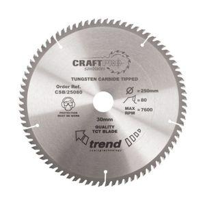 Trend 315mm dia 30mm Bore ATB Z=72 TCT Table / Rip Saw Blade CSB/31572
