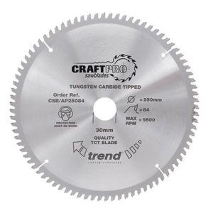 300mm dia x  96 Tooth x 30mm Bore Trend Craft Pro Saw Blade for Aluminium  & Plastics