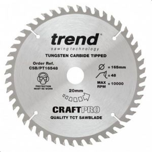 Trend Craft Pro 210mm Dia 30mm Bore 60 tooth Super Fine Finish Plunge/Panel Saw Blade
