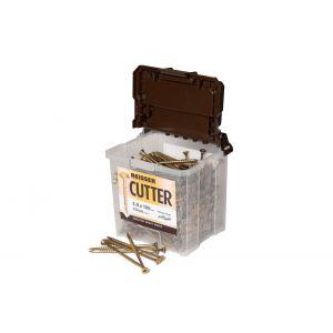 5.0 x 80mm Reisser CUTTER Woodscrews 400pc TUB