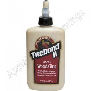 Titebond II Easy Sand, Paintable, Furniture & Cabinetry Dark Wood Glue 237ml (8 fl.oz) supplied by Appleby Woodturnings