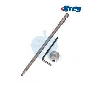 "Kreg 1/4"" (6.36mm) Hex Shank Deck Jig Spare Driver Bit With Allen Wrench DECKDRIVER"