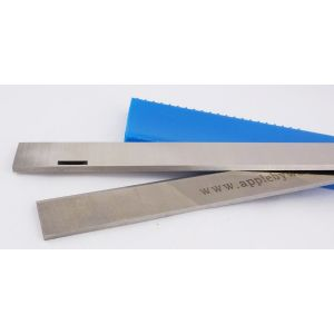 260 x 21 x 3mm Slotted HSS Resharpenable Planer Blades 1 Pair
