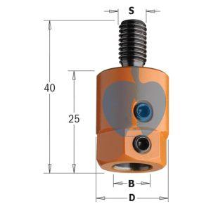 CMT Multi Borer Drill Adaptor Chuck 8mm Bore S=M8 R/H 301.080.01