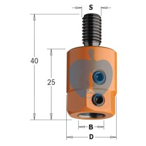 CMT Multi Borer Drill Adaptor Chuck 8mm Bore S=M10 R/H 302.080.01