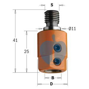 CMT Multi Borer Drill Adaptor Chuck 8mm Bore S=M10/11 R/H 305.080.01