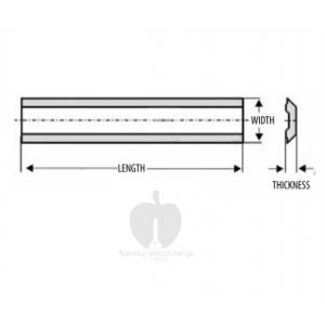 130 x 12 x 2.8mm Enshin / Kanafusa Solid Carbide Planer Blade - 1 blade