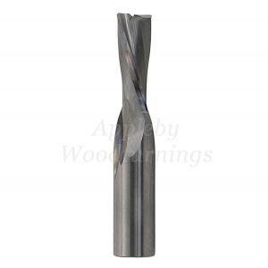 8mm dia x 25mm cut CNC S=8mm Finishing Spiral Router 2 Flute Neg. R/H FREUD
