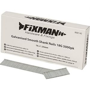16mm x 1.25mm 18G Fixman Galvanised Smooth Shank Nails 5000pck 868140