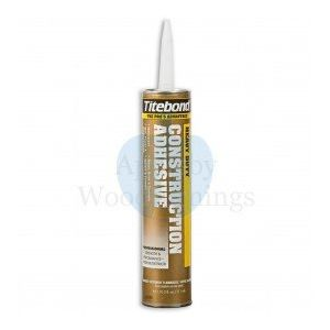 Professional Strength Water Resistant Heavy Duty Construction Adhesive 296ml Titebond supplied by Appleby Woodturnings
