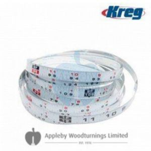 """Kreg 1/2"""" x 12Ft Self Adhesive Measuring Tape, Left to Right Reading KMS7724"""