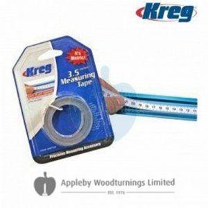 Kreg 3.5 Meter Self Adhesive Measuring Tape Metric Right to Left Reading KMS7728