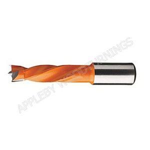 5.1mm x 57mm Lip & Spur Dowel Drill Bits L/H Kyocera Unimerco