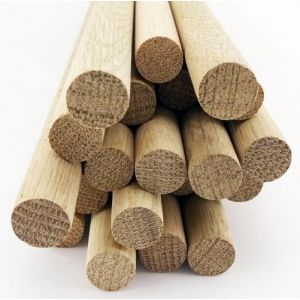 50 pcs 1/4 Dia Oak Dowel Rods 36 Inches (6.35 x 914mm) Long Imperial Size