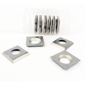 14 x 14 x 2mm Reversible Carbide Spur Tip Knives to suit Whitehill 030T00001 - 1 Box (10 pcs)