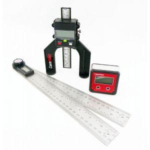 Plastic Bevel Box & 280mm Digital Depth Gauge GEMRED BUNDLE