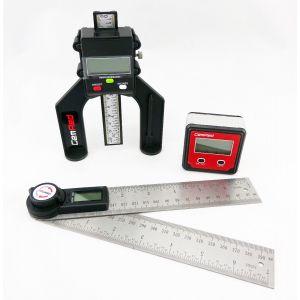 Plastic Bevel Box, 280mm Digital Angle Finder Rule & Digital Depth Gauge GEMRED BUNDLE