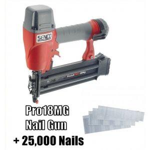 SENCO PRO18MG 18g Nail Gun + 25,000 Nails
