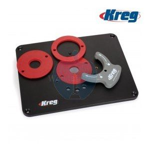 Kreg PRS4036 Precision Router Table Insert Plate With Level-Loc Rings (Pre-drilled for Bosch & Porter Cable)
