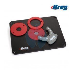 Kreg PRS4038 Router Table Insert Plate With Level-Loc Rings (Non Pre-drilled)
