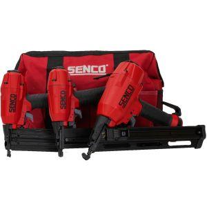 Senco 3-in-1 Pneumatic Air Nailer & Stapler Triple Set in Carry Bag