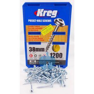 1,200 SCREWS 1 1/2 Inch KREG Pocket Hole Washer Heads SML-C150 38mm