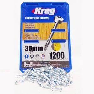 1,200 KREG Screws SPS-F150 - 1 1/2 Inch 38mm Fine Thread Pan Head