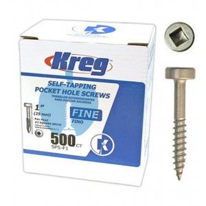 500 SCREWS 1 Inch KREG 25mm Fine Thread Pan Heads SPS-F1