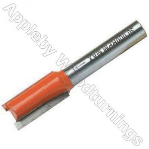"""12 x 25mm S=1/2"""" Silverline TCT Metric Straight Router Cutter"""
