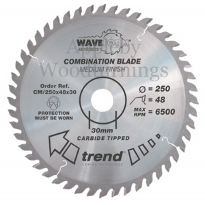 190mm Z=36 Id=30 TREND Industrial Hand Held / Portable Saw Blade To Fit Festool AT65