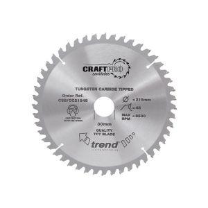 Trend 184mm dia 16mm Bore ATB Z=24 Neg Crosscut Saw Blade CSB/CC18424T