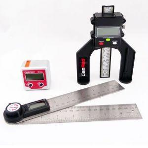 200mm Stainless Steel Digital Angle Finder Rule + Bevel Box + Digital Depth Gauge GEMRED BUNDLE OFFER supplied by Appleby Woodturnings