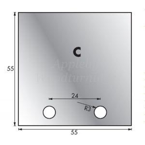 1 Pair 53 x 54mm Whitehill Type C HSS Blank Profile Limiters 002H00016