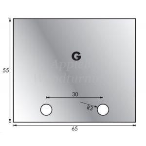 1 Pair 65 x 55mm Whitehill Type G HSS Blank Profile Knives 001H00032