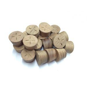 25mm American Black Walnut Tapered Wooden Plugs 100pcs