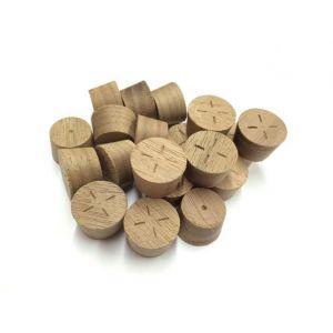 19mm American Black Walnut Tapered Wood Pellet 100pcs