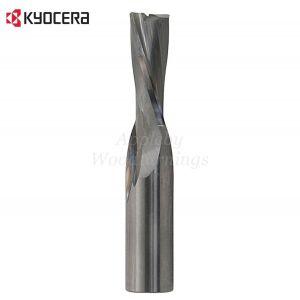 6mm dia x 27mm cut CNC S=6mm Finishing Spiral Router Z=2 Negative R/H Kyocera