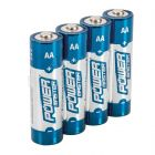 4 Pack AA 1.5V Powermaster  Premium Alkaline Batteries Industrial Strength
