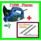 Silverline 82mm Planer 710W & 10 Additional 82mm Planer Blades