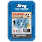 500 SCREWS 1 1/2 Inch KREG Pocket Hole Washer Heads SML-C150 38mm