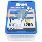 1,200 SCREWS 1 Inch KREG 25mm Fine Thread Pan Heads SPS-F1