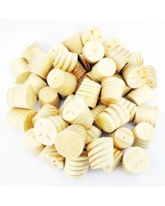 12mm Softwood / Pine Tapered Wooden Plugs 100pcs