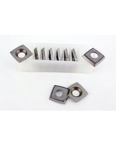 15 x 15 x 2.5mm  Reversible Knives Solid Carbide Tips (RADIUS 50mm + Corner Rads)