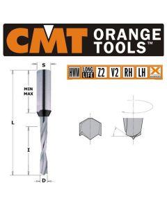 3mm x 70mm Solid Carbide Lip & Spur Dowel Drill Bit L/H CMT